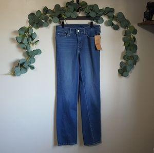 Levi's straight leg medium wash denim jeans